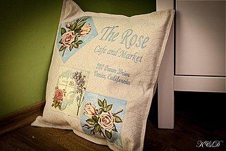 """Úžitkový textil - Vankúšik """"The Rose"""" - 4015392_"""