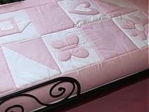 Textil - Prehoz, vankúš patchwork vzor ružová pre detičky, rozmer 140x200 cm - 4016060_
