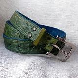 Opasky - Barvičky, vzorečky v zelené - 4018610_