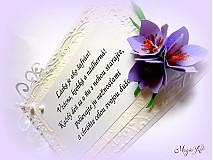 Papiernictvo - Láska je ako šafrán!  Vzácna, krehká a nádherná! - 4016381_
