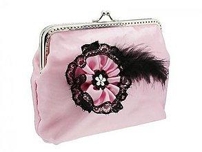 Kabelky - Spoločenská kabelka růžová - taštička 0990A - 4022744_