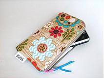Na mobil - Pastelové květinky v lese -obal na mobilní telefon - 4022821_