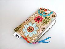Na mobil - Pastelové květinky v lese -obal na mobilní telefon - 4022843_