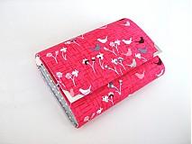 Peňaženky - Ptačí štěbetání na malinově růžové - peněženka - 4023000_