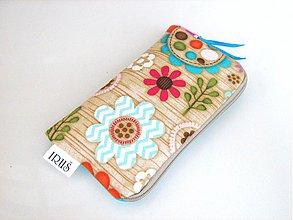 Na mobil - Pastelové květinky v lese -obal na mobilní telefon - 4022789_