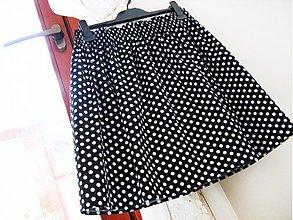 Sukne - Dots in Black - sukýnka s puntíky :-) - 4022924_