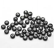Čierne korálky abeceda (balíček 500ks)