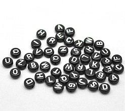 Korálky - Čierne korálky abeceda (balíček 500ks) - 4022999_
