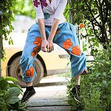 Nohavice - Origo teplakoška lažo plážo kvety - 4023080_