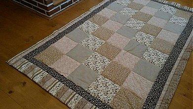 Úžitkový textil - Patchwork prehoz - dáš si kávu? - 4027076_