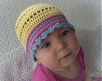 Detské čiapky - Žltulinká čiapočka - 4024343_