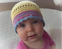Detské čiapky - Žltulinká čiapočka - 4024344_