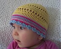 Detské čiapky - Žltulinká čiapočka - 4024348_