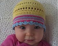 Detské čiapky - Žltulinká čiapočka - 4024350_