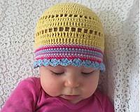 Detské čiapky - Žltulinká čiapočka - 4024352_