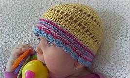 Detské čiapky - Žltulinká čiapočka - 4024353_