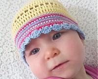 Detské čiapky - Žltulinká čiapočka - 4024354_