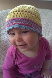 Detské čiapky - Žltulinká čiapočka - 4024347_