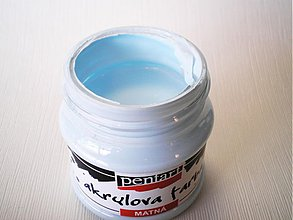 Farby-laky - Akrylová farba - ľadovomodrá - 4026917_