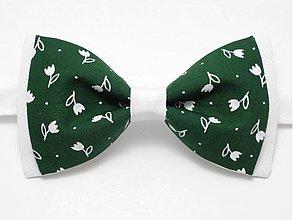 Doplnky - Folkový zelený motýlik II - 4026997_