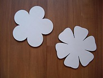 Polotovary - Dekorácia drevená - kvet - 4025631_