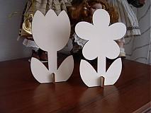 Materiál ručne robený - Tulipán + kvet - dekorácie z dreva - 4025832_