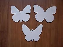 Tabuľky - Motýl - drevená dekorácia - 4025897_