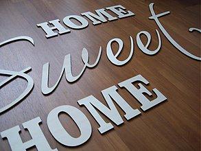 Dekorácie - Drevený nápis - SWEET HOME - vyrezávané písmenká - 4026898_