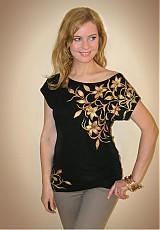Tričká - Zlato-medené lily... - 4026385_