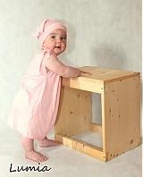 Detské oblečenie - súprava šiatky a šatka - 4023849_