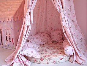 Detské doplnky - Baldachýn ruža - 4027306_