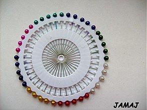 Galantéria - farebné špendlíky - 4031460_