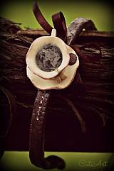 Ozdoby do vlasov - Kávový úlet - čelenka - 4032936_