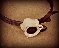 Ozdoby do vlasov - Kávový úlet - čelenka - 4032938_