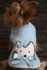 - Modrý svetrík s mačičkou  - 4032603_