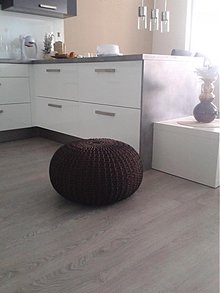 Úžitkový textil - Puf - čokoládový - 4032644_