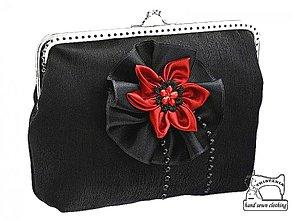 Kabelky - Spoločenská dámská kabelka  čierna 0850A - 4038520_
