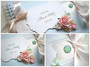 Papiernictvo - Svadobná kniha hostí - 4038576_