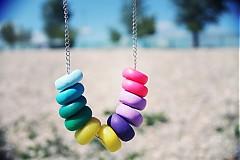 Náhrdelníky - farby dúhy... - 4037214_