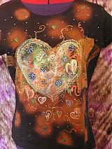 Oblečenie - XL úlet..hippies srdce - 4035972_