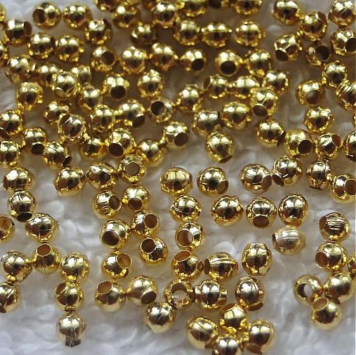 Kov.korálky-zlatá
