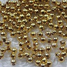 Korálky - Kov.korálky-zlatá - 4035643_