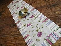 Úžitkový textil - Kvetinový obrus  - pás - 4035322_