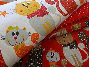 Textil - bavlnené látky -NOVINKA-Francúzko-mačičky - 4038415_