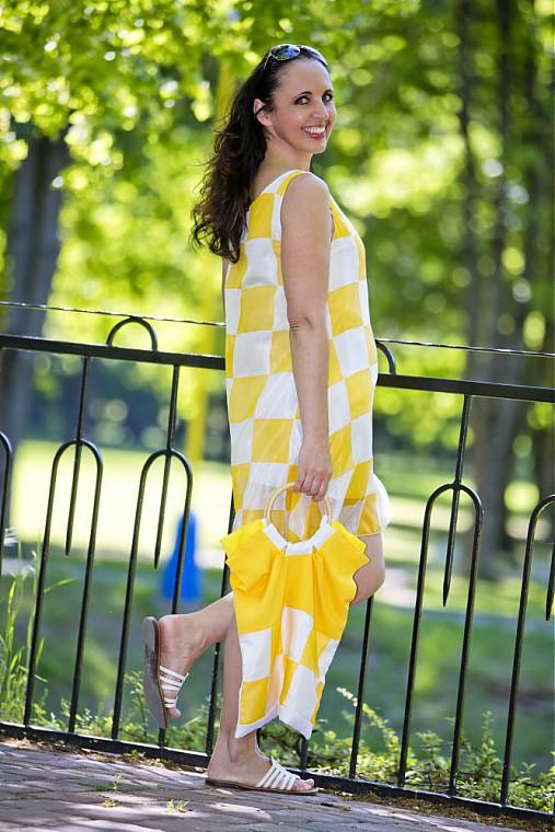 Letné hodvábne šaty žlté   Cherie-Cherie - SAShE.sk - Handmade Šaty 92585b3b23
