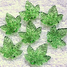 Korálky - List plast 20mm-sv.zel-200ks - 4039415_