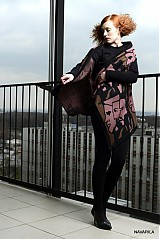 Iné oblečenie - retro pončo REVOL s vyplétanými portréty - 4039139_