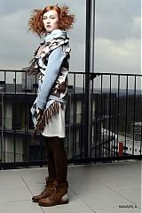 Iné oblečenie - retro pončo REVOL s vyplétanými portréty - 4039142_