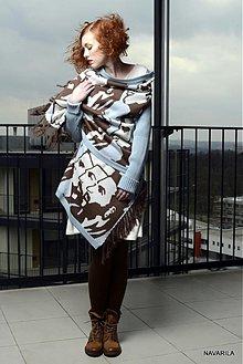 Iné oblečenie - retro pončo REVOL s vyplétanými portréty - 4039138_