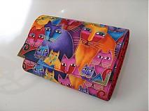 Peňaženky - Luxusní barevné čičiny - až na 12 karet - 13 cm - 4041376_